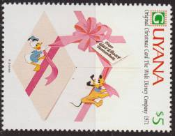 Guyana 1991 Scott 2472 Sello ** Walt Disney Tarjetas De Felicitacion Originales De 1971 5$ Stamps Timbre Briefmarke - Disney