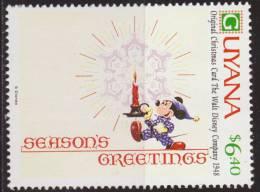 Guyana 1991 Scott 2473 Sello ** Walt Disney Tarjetas De Felicitacion Originales De 1971 6,40$ Stamps Timbre Briefmarke - Disney