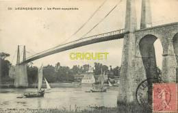 Cpa 22 Lézardrieux, Le Pont Suspendu, 2 Beaux Bateaux, Affranchie 1906 - France