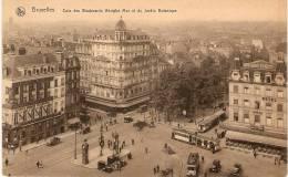 ANC CP BRUXELLES Boulevards Adolphe Max & Jardin Botanique Non Circulé Ed. Ern. Thill Brux. Série 1 N°77 - Avenues, Boulevards