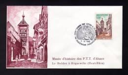 Lettre Avec CàD 68 RIQUEWIHR PHILATELIE Expo « Comme Une Lettre à La Poste » Du 02/03/1989 Le Dolder - Réf A1069 - Storia Postale