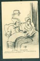 """"""" Au Village - Nuit Paisible  """"    Illustration Signée  C. Lestin   - Uw39 - Autres Illustrateurs"""