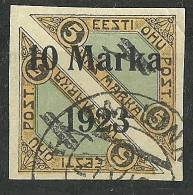ESTLAND Estonia Estonie 1923 Air Mail Flugpost Michel 43 B O Signed K. KOKK - Estonie