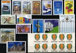 AD1191. ANDORRE / PRINCIPAT D´ANDORRA (2001) - Complete Year, Mint / Année Complet Neuf - Años Completos