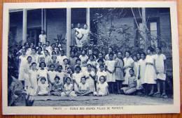 Cpa TAHITI Ecole Des Jeunes Filles De PAPEETE - Tahiti