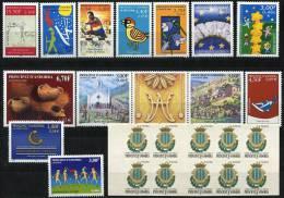 AD1193. ANDORRE / PRINCIPAT D´ANDORRA (2000) - Séries And Carnet Neufs / Mint Sets And Booklet - Años Completos