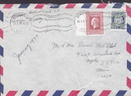 Norway Airmail Par Avion STAVANGER 1977 Cover Brief To United States USA - Briefe U. Dokumente
