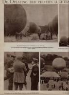Extrait De Journal * 1921 * COUPE  GORDON BENNET POUR BALLONS (Armbruste - Demuyter - Labrousse - Bienaimé - 3 Pages - Montgolfières