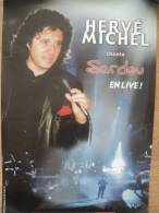 *Affiche Publicitaire Hervé MICHEL Chante SARDOU En Live - Posters