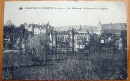 Cpa CHATEAU L EVEQUE 24 Le Château, Le Couvent Et L´ Eglise - Altri Comuni