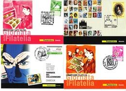 """7 CARTOLINE + 1 FRANCOBOLLO EMESSI A """"MILANOFIL"""" ANNO 2013 CONTENUTI IN BUSTA DELLE POSTE ITALIANE - 1946-.. République"""