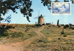 Moulin à Vent  Alphonse  Daudet Carte Maximum - Sin Clasificación