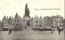 BRUGES-BRUGGE - La Statue Breydel Et Deconinck - Feldpost De 1915 - Brugge