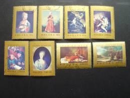 Polen 1808/15 Oo Used, Gemälde Europäischer Meister In Polnischen Museen (Nationalgalerien Warschau Und Krakau) - Used Stamps