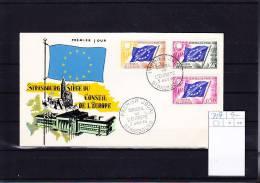 Frankreich Michel Cat.No.  FDC  Conseil  7/9 (1) - Briefe U. Dokumente