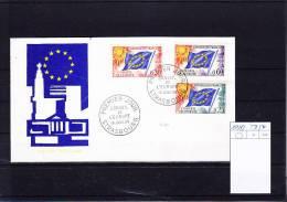 Frankreich Michel Cat.No.  FDC  Conseil  10/12 (1) - Briefe U. Dokumente