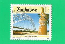 ZIMBABWE ,, 11 C ,, 1985 ,, BIRCHENOUGH BRIDGE ,, SANS CHARNIERES TBE - Zimbabwe (1980-...)
