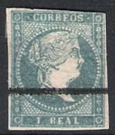 01714 España Edifil 45 Muestra Cat. Eur.135,- OPORTUNIDAD - 1850-68 Reino: Isabel II