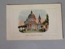 TORINO CHIESA REALE DI SUPERGA DEL 1918 A COLORI OTTIMO STATO - Kirchen