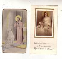 45 Orléans - Lot De 2 Images Pieuses -  Première Communion Solennelle En L´Eglise De Saint Paterne 6  Juin 1946 POINTARD - Images Religieuses