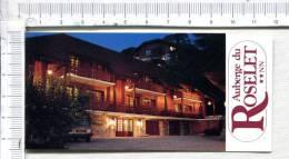 L 336 - Cartonnette Publicitaire Double -  AUBERGE Du ROSELET  -  DUINGT - - Plaques Publicitaires