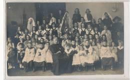 59 // SOMAIN   Groupe D 'enfants Cérémonie Religieuse   PHOTO CARRE A SOMAIN / CARTE PHOTO - France