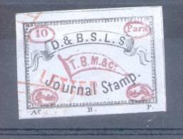 MEDITERRANEAN MAIL STEAMER LABEL RARISIME WITH FULL CERTIFICATE TURKEY - EMPIRE OTTOMAN - TURQUIA CIRCA 1860 - Turkey