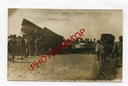 LEDEGEM-Avion Abattu-CARTE PHOTO Allemande-Guerre 14-18-1WK-BELGIEN-Flandern-FELDPOST-Res.Lazaret STERN-AVIATION-MILITAR - Ledegem