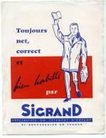 Buvard Sigrand Toujours Net Correct Et Bien Habille - Non Classés