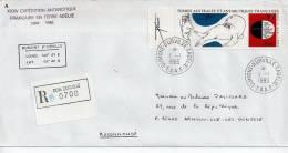 Ref TS : Enveloppe  Recommandé Dumont D'Urville  T.A.A.F Terres Australes Et Antartiques Française Poste Aérienne - Terres Australes Et Antarctiques Françaises (TAAF)