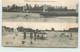 CHATILLON SUR LOIRE - Pont Suspendu, Plage. - Chatillon Sur Loire