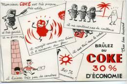 Buvard Monsieur COKE Est Tres Propre Tres Utile Et Tres Gentil - Non Classés