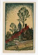 LEDEGEM-DESSIN Allemand-CARTE Allemande-Guerre 14-18-1WK-BELGIQUE-BELGIEN-Flandern-Illustrateur-K.M.LECHNER- - Ledegem