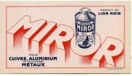 Buvard Miror Produit Lion Noir Pour Cuivre Aluminium Et Tous Autres Metaux - Non Classés