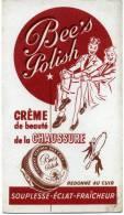 Buvard Bee's Polish Creme De Beaute De La Chaussure - Old Paper