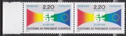 N° 2572 3ème Elections Au Palement Euiropéen: Symbole: Une Paire De 2 Timbres - Ungebraucht