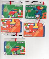 Lot 5 Télécartes 50 NSB France 98 FOOTBALL - Schede Telefoniche