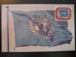 New York NY United Nations UN 1952 Flag Flags Maxi Maximum Card - Briefe
