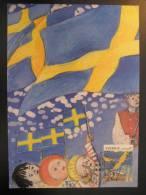 Stockholm 1991 Sweden Flag Flags Maxi Maximum Card - Briefe