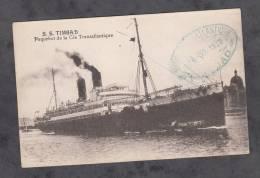 CPA - Paquebot S.S. TIMGAD - Compagnie Transatlantique - Cachet De Bateau 1930 - Paquebots