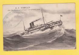 CPA - Paquebot S.S. TIMGAD - Compagnie Transatlantique Par Grosse Mer - Cachet De Bateau 1930 - Paquebots