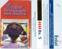 Telefonkarte Bolivien - Werbung  - Entel Net - Bolivien