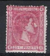 01745 España Edifil 166 * Cat. Eur. 87,-   ¡OPORTUNIDAD! - 1875-1882 Reino: Alfonso XII