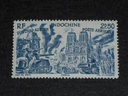 INDOCHINE YT PA 44 ** - DU TCHAD AU RHIN - CHAR TANK PARIS CATHEDRALE NOTRE DAME - - Indochine (1889-1945)