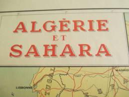 Carte/ALGERIE Et SAHARA/ Délégation Générale Du Gouvernement En Algérie/Fournié Géographe/1960    PGC42 - Cartes Routières
