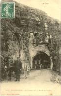 46/ CPA A - Rocamadour - Le Tunnel De La Route De Cahors (trés Belle Carte Avec Attelage) - Rocamadour