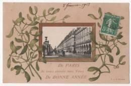 CPA Fantaisie - De PARIS, Je Vous Envoie Mes Voeux De Bonne Année - Nouvel An