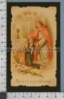 Xsb375 SACRAMENTI RICORDO DELLA PRIMA COMUNIONE Num. 417 Adesivo Riproduzione ALBUM DEI SANTINI - Godsdienst & Esoterisme