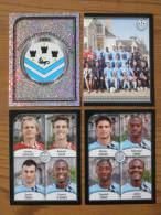 FOOT STICKER FRANCE PANINI FOOT 2010 - N°647 ECUSSON CLUB - 649-650-653 OLIVIER GIROUD - FC TOURS - 4 STICKERS NEUFS - Edition Française