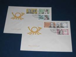 FDC DDR Ersttagsbrief Deutschland 1978 Bedeutende Persönlichkeiten Otto Hahn Chemiker Lessing Dichter Philosoph - [6] Democratic Republic
